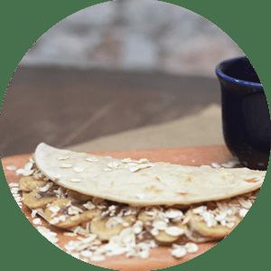 Piadina Funcional de Banana