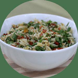 Risoni de Rúcula com Tomate Seco