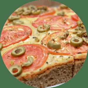 Bolo Integral Salgado de Tomate e Azeitona
